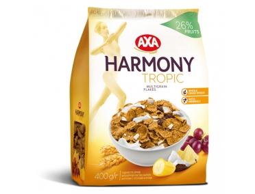 Хлопья мультизерновые AXA Harmony с тропическими фруктами 400г