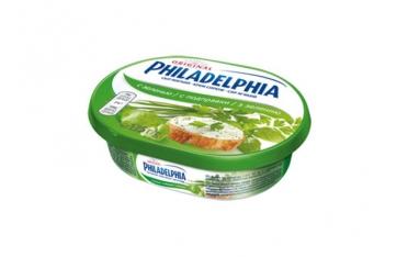 Сыр Филадельфия Kraft Foods 64% с зеленью 175г