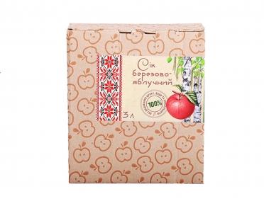 Сок «Золотой Пармен»  березово-яблочный органический 3л