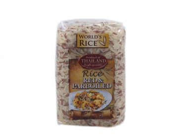 Рис «World's rice» парбоилд и красный 500г