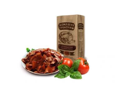 Сухарики «Домашні гріночки» с томатом и базиликом 100г