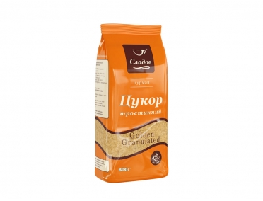 Сахар Сладов тростниковый Golden Granulated 600г