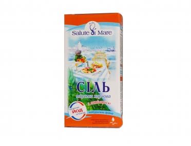 Соль Salute di Mare морская пищевая с ламинарией 750г