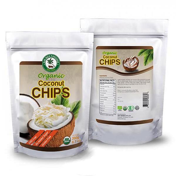 Кокосовые чипсы органические сушеные 200г