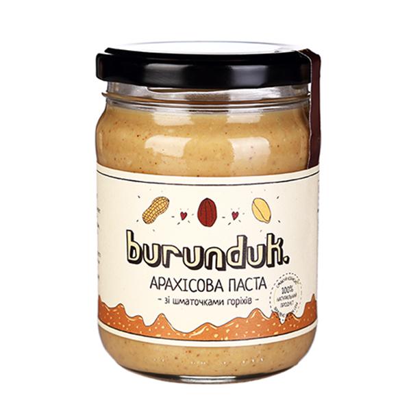 Арахисовая паста с кусочками арахиса Burunduk 450г