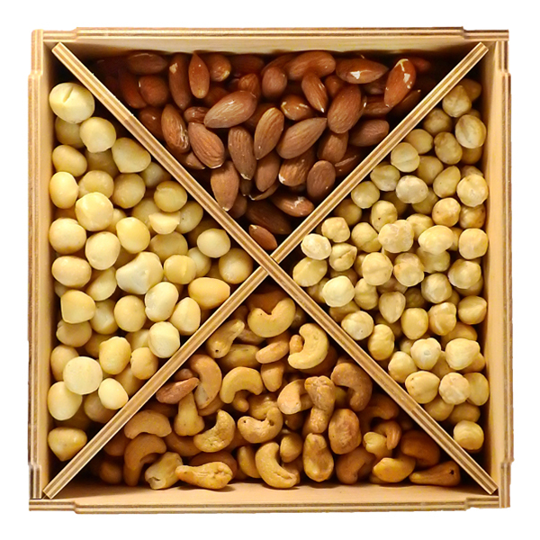 Ореховый набор в деревянном боксе