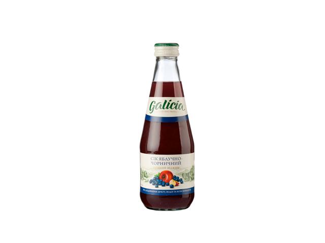Сок Galicia яблочно-черничный 330мл