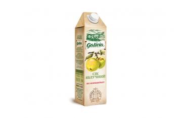 Сок Galicia яблочный тетрапакет 1л