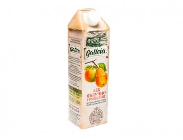 Сок Galicia яблочно-грушевый тетрапакет 1л