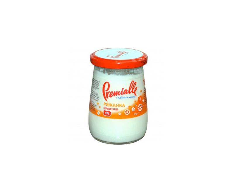 Ряженка Premialle термостатная 4% 260г