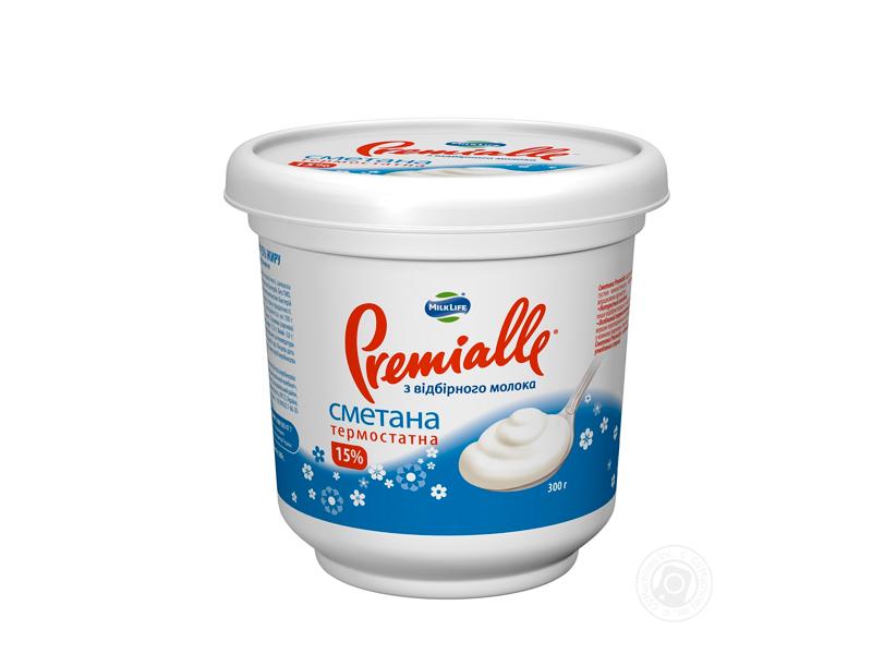 Сметана Premialle термостатная 15% 300г