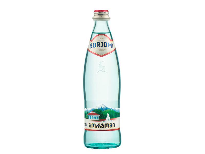 Вода Borjomi сильногазированная 500мл