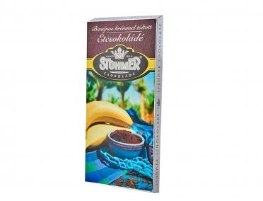 Шоколад Stuhmer черный с кремом банан-мёд-лимон 100г