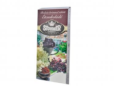 Шоколад Stuhmer черный с бузиновым кремом 100г
