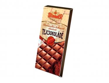 Шоколад Stuhmer молочный с печеньем и карамелью 100г