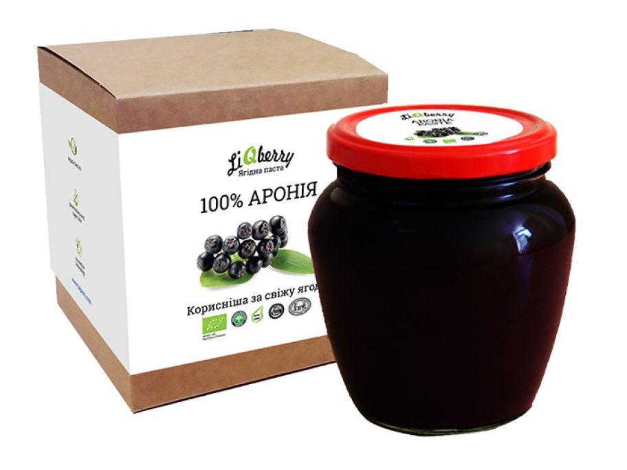 Арониевая паста органическая LiQberry 550г - FreshMart