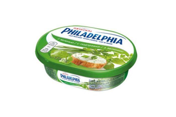 Сыр Филадельфия Kraft Foods 64% с зеленью 175г - FreshMart