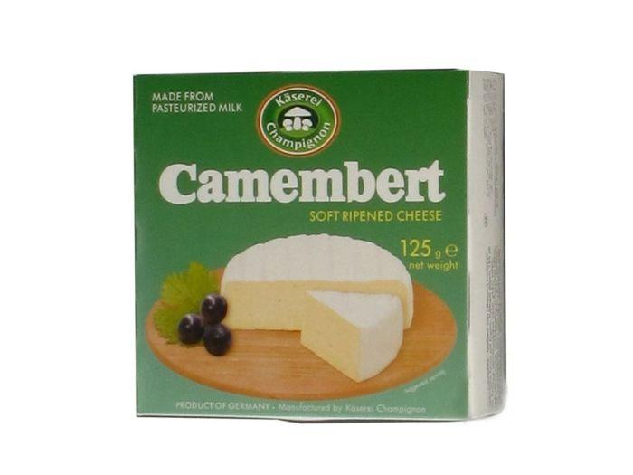 Сыр Камамбер Kaeserei Champignon 50% мягкий с плесенью 125г - FreshMart