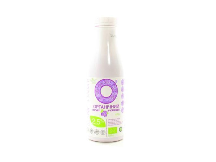 Йогурт Органический с черникой 2,5% 470г - FreshMart