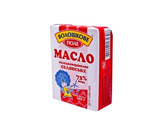 Масло сливочное «Волошкове поле» 73% 200г - FreshMart