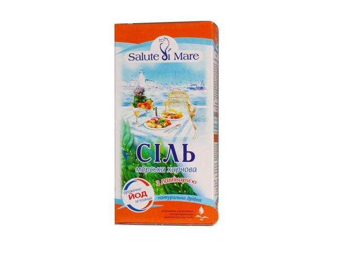 Соль Salute di Mare морская пищевая с ламинарией 750г - FreshMart