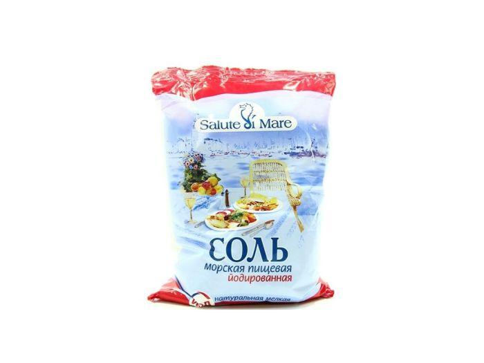 Сіль Salute di Mare морська харчова дрібна йодована 600г - FreshMart
