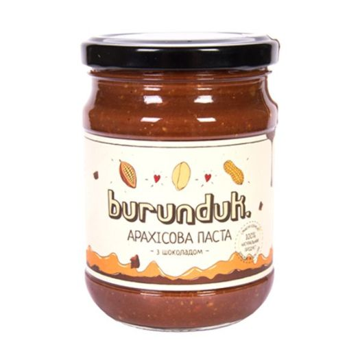 Арахісова паста з шоколадом Burunduk  450г - FreshMart