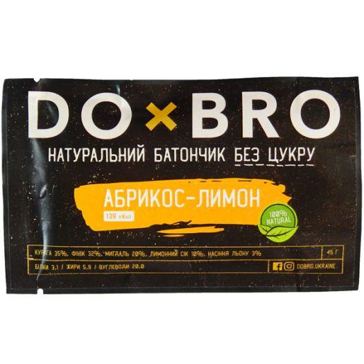 Енергетичний батончик абрикос-лимон DOBRO 45г: фото 2 - FreshMart