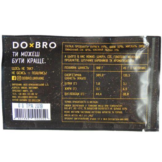 Енергетичний батончик абрикос-лимон DOBRO 45г: фото 3 - FreshMart
