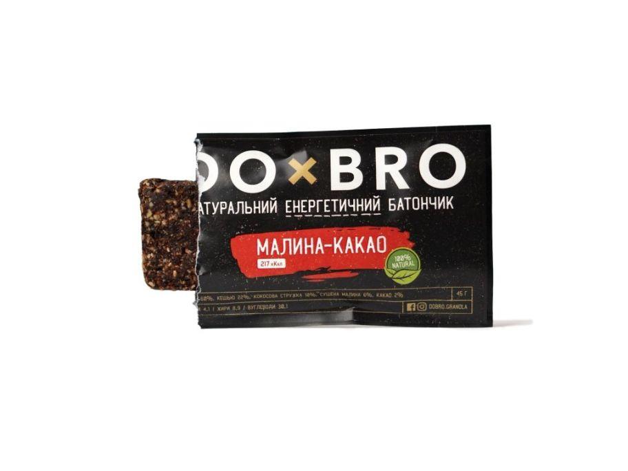 Енергетичний батончик малина-какао DOBRO 45г - FreshMart
