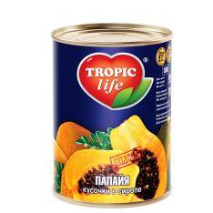 Папая Tropic Life шматочки в сиропі 580мл  - FreshMart