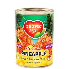 Ананас Tropic Life шматочками у власному соку 580мл  - FreshMart