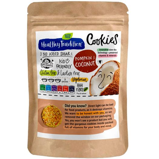 Печенье Healthy Tradition Cookies тыква и кокос 90г - FreshMart