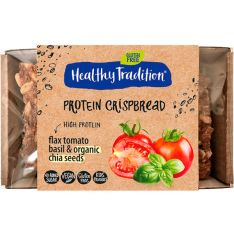 Хлібці Healthy Tradition Protein Crispbread томати та базилік 40г - FreshMart