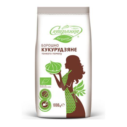 Мука кукурузная органическая Сквырянка 1кг - FreshMart
