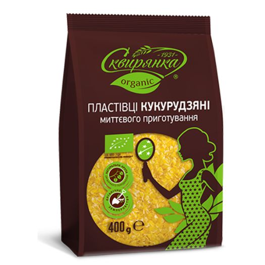 Кукурудзяні пластівці органічні Сквирянка 400г - FreshMart