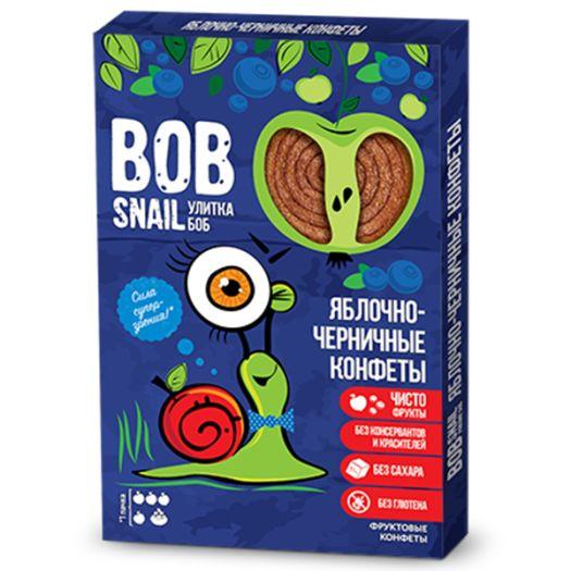 Цукерки Bob Snail яблучно-чорничні натуральні 60г - FreshMart