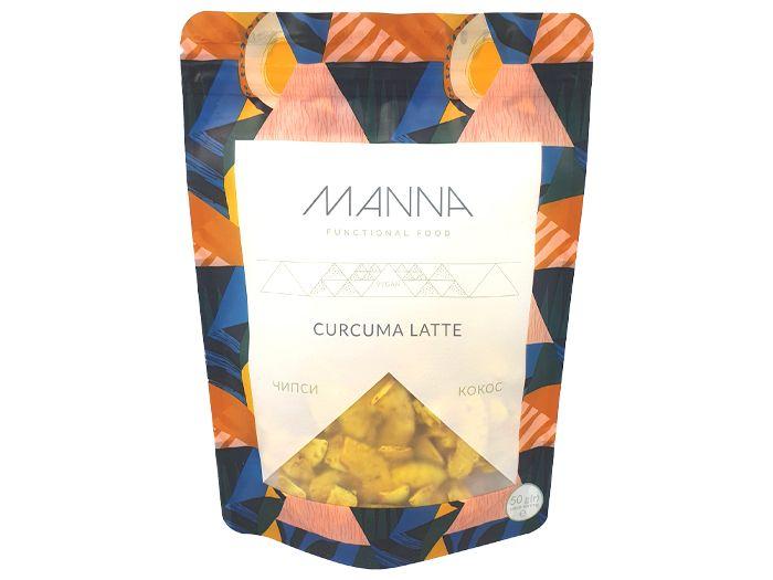 Чіпси MANNA Curcuma Latte кокосові 50г - FreshMart