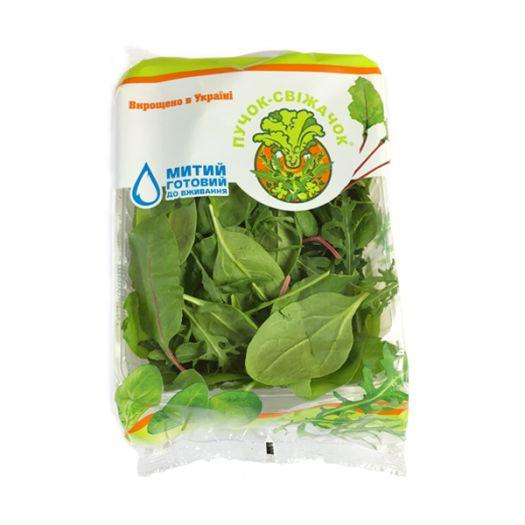 Салат руккола, мангольд и беби шпинат Пучок-Свежачок 125г - FreshMart