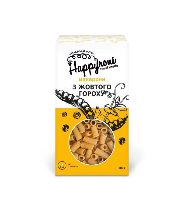 Макароны из желтого гороха трубочки Happyroni 300г - FreshMart