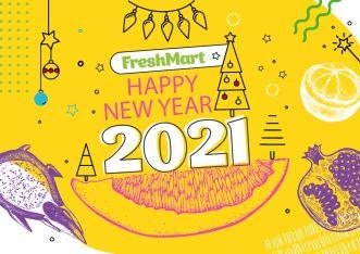 "Наклейка "" Happy New Year 2021"" - FreshMart"