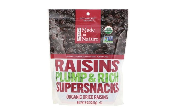 Ізюм великий органічний Made in Nature 255г - FreshMart