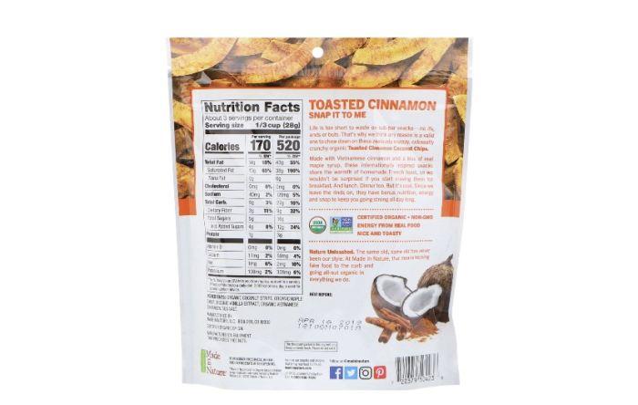Чіпси кокосові органічні Made in Nature 85г: фото 2 - FreshMart