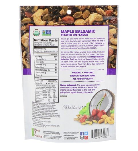 Фруктово-горіхова суміш органічна Made in Nature 113г: фото 2 - FreshMart