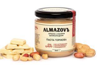 Паста арахісова з білим шоколадом Almazovъ 200г - FreshMart