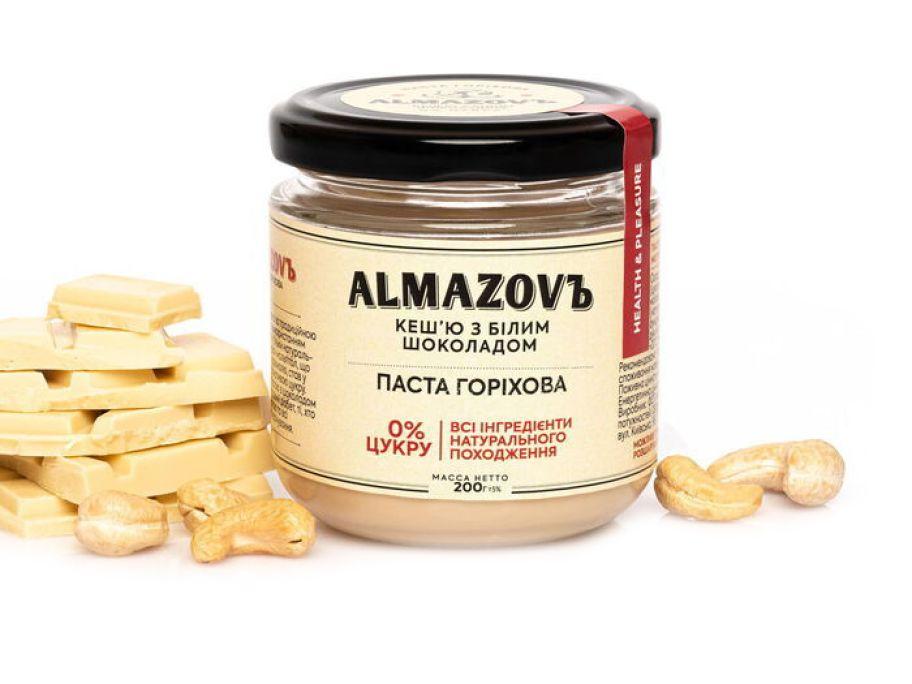 Паста кешью с белым шоколадом Almazovъ 200г  - FreshMart