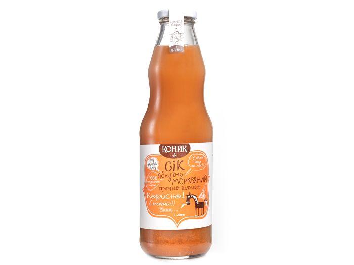 Сік яблучно-морквяний Коник 1л - FreshMart