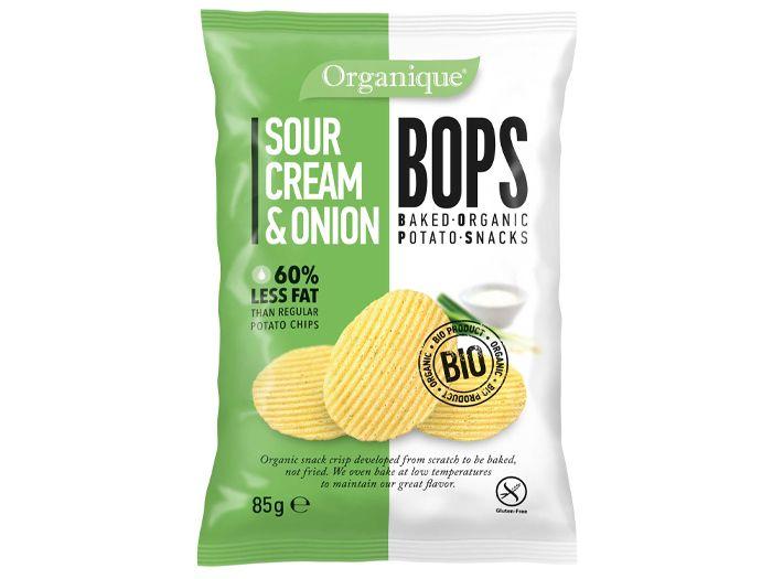Снеки картофельные со сметаной и луком органические BOPS 85г - FreshMart