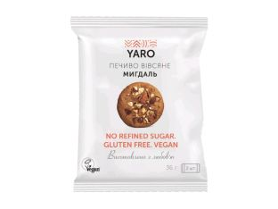Печенье овсяное миндаль Yaro 2шт 36г - FreshMart
