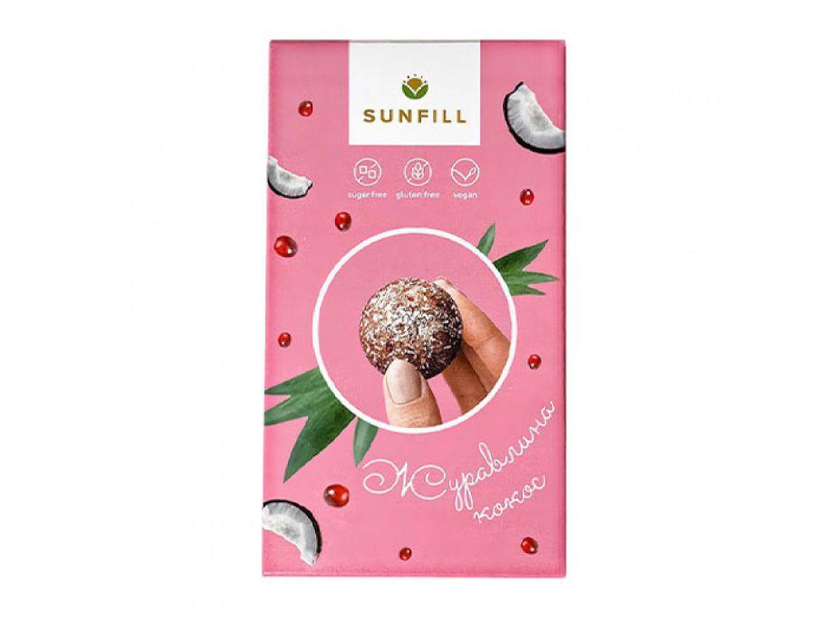 Конфеты клюква-кокос Sunfill 150г - FreshMart